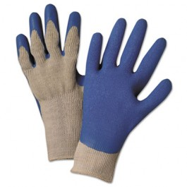 Latex Coated Gloves 6030, Gray/Blue, Small