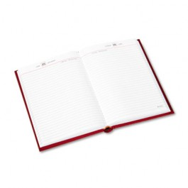 "Standard Diary Recycled Daily Reminder, Red, 5 3/4"" x 8 1/4"""