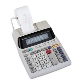 EL1801V Two-Color Printing Calculator, 12-Digit Fluorescent, Black/Red