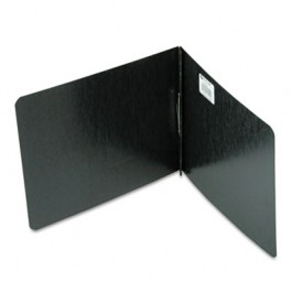 "Pressboard Report Cover, Prong Clip, Letter, 2"" Capacity, Black"