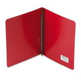 """Presstex Report Cover, Prong Clip, Letter, 3"""" Capacity, Executive Red"""