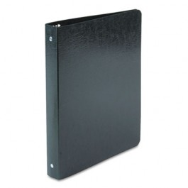 "Recycled PRESSTEX Round Ring Binder, 1"" Capacity, Black"