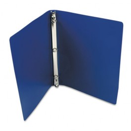 """ACCOHIDE Poly Ring Binder With 23-Pt. Cover, 1/2"""" Capacity, Dark Royal Blue"""