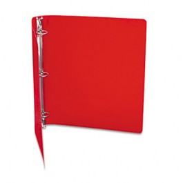 "ACCOHIDE Poly Ring Binder With 35-Pt. Cover, 1"" Capacity, Executive Red"