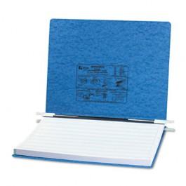 Pressboard Hanging Data Binder, 14-7/8 x 11 Unburst Sheets, Light Blue