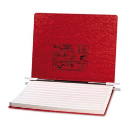 Pressboard Hanging Data Binder, 14-7/8 x 11, Executive Red