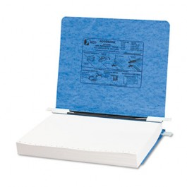 Pressboard Hanging Data Binder, 11 x 8-1/2 Unburst Sheets, Light Blue