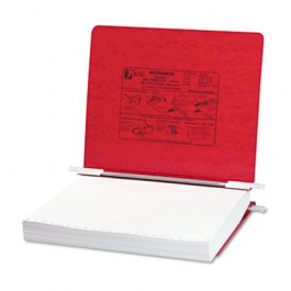 Pressboard Hanging Data Binder, 11 x 8-1/2 Unburst Sheets, Executive Red