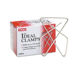 """Ideal Clamps, Steel Wire, Large, 2-5/8"""", Silver, 12/Box"""