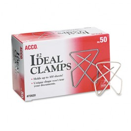 """Ideal Clamps, Steel Wire, Small, 1-1/2"""", Silver, 50/Box"""