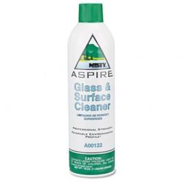 Aspire Glass & Surface Cleaner, Lemon Scent, 16 oz. Aerosol Can