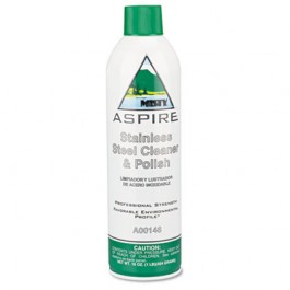 Aspire Stainless Steel Cleaner & Polish, Lemon Scent, 16 oz. Aerosol Can