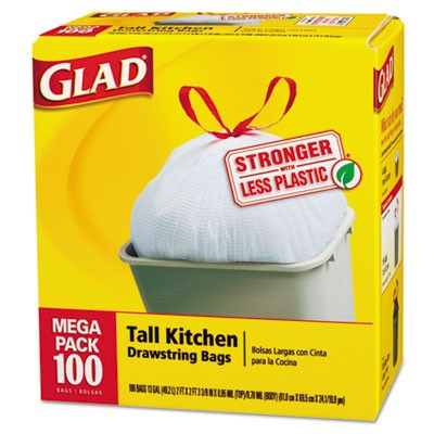 Glad Tall Kitchen Bags 15 CT Pack of 24