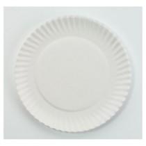 "White Paper Plates, 6"" Diameter"