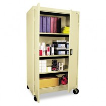 Mobile Storage Cabinet, w/ Adjustable Shelves 36w x 24d x 66h, Putty