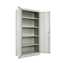 "Assembled 72"" High Storage Cabinet, w/ Adjustable Shelves, 36w x 18d, Light Gray"