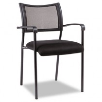 Eikon Series Stacking Mesh Guest Chair, Black