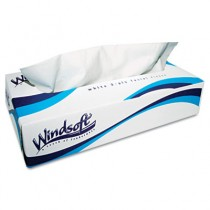 Facial Tissue in Pop-Up Box, White, 2-Ply