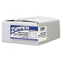 Recloseable Zipper Seal Sandwich Bags, 1.15mil, 6.5 x 5.875, Clear