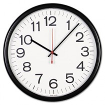 Indoor/Outdoor Clock, 13-1/2in, Black