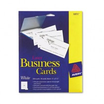 Laser Business Cards, 2 x 3 1/2, White, 10 Cards/Sheet, 250/Pack