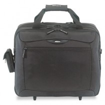 Rolling Travel Laptop Case, Nylon, 18 x 10 x 15, Black