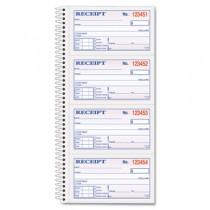 Money/Rent Receipt Spiral Book, 2-3/4 x 4 3/4, 2-Part Carbonless, 200 Sets/Book