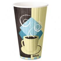 Duo Shield Hot Insulated 16 oz Paper Cups, Beige