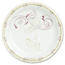 """Symphony Paper Dinnerware, Mediumweight Plate, 8 1/2"""", Tan"""