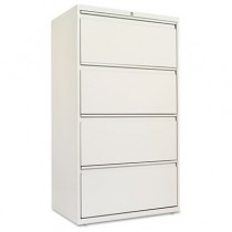 Four-Drawer Lateral File Cabinet, 30w x 19-1/4d x 54h, Light Gray