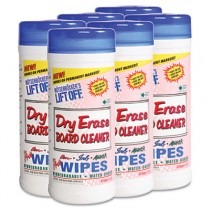 Dry Erase Cleaner Wipes, Cloth, 7 x 12