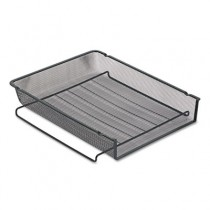 Mesh Stackable Front Load Letter Tray, Wire, Black