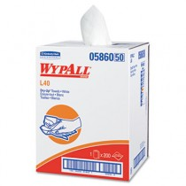 WYPALL L40 DRY-UP Professional Towels, 19.5 x 42, White