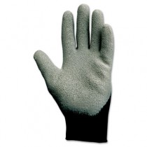 KLEENGUARD G40 Latex Coated Poly-Cotton Gloves, Large/#9, Gray