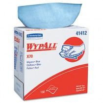 WYPALL X70 Wipers, POP-UP Box, 9 1/10 x 16 4/5, Blue