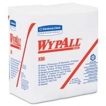 WYPALL X80 Wipers, 1/4-Fold, HYDROKNIT, 12 1/2 x 13, White