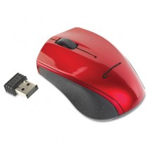 Mini Wireless Optical Mouse, Three Buttons, Red/Black
