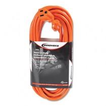 Indoor/Outdoor Extension Cord, 25 Feet, Orange