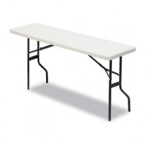 IndestrucTable TOO 1200 Series Resin Folding Table, 72w x 18d x 29h, Platinum