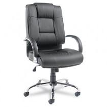 Ravino Series High-Back Swivel/Tilt Leather Chair, Black