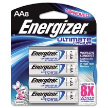 e� Lithium Batteries, AA, 8 Batteries/Pack