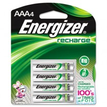e� NiMH Rechargeable Batteries, AAA, 4 Batteries/Pack