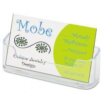Horizontal Business Card Holder, 3 3/4w x 1 7/8h x 1 1/2d, Clear