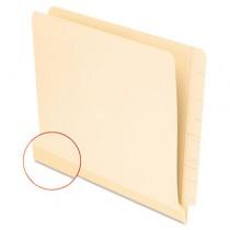 Laminate Shelf File Folder, Straight Tab, 11 Point Manila, Letter, 100/Box