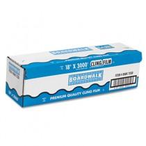"PVC Food Wrap Film Roll, 18"" x 3000 ft, Clear"
