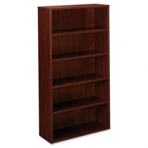 BL Laminate Series Bookcase, 5 Shelves, 32w x 13.81d x 65 3/8h, Mahogany
