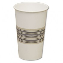 Paper Hot Cups, 16 oz, Blue/Tan