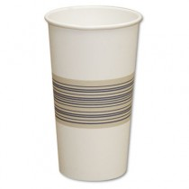 Paper Hot Cups, 20 oz, Blue/Tan