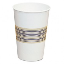 Paper Hot Cups, 12 oz, Blue/Tan