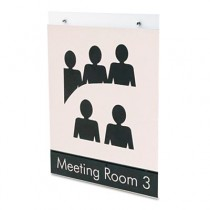 Classic Image Single-Sided Wall Sign Holder, Plastic, 8-1/2 x 11, Clear